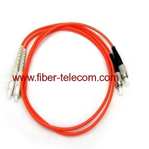 FC-SC Multi mode Duplex Fiber Optic Patch Cord