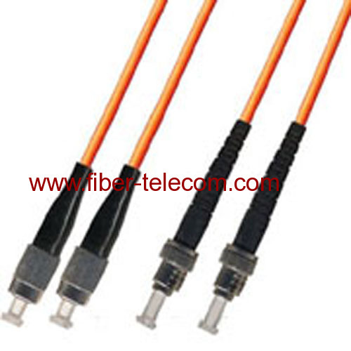 FC-ST Multi mode Duplex Fiber Optic Patch Cord