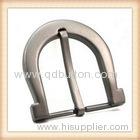 polish antique plain rectangle brass buckle