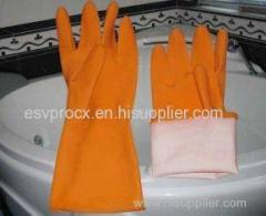 Customized Wet / Dry Grip Rubber Latex Glove For Household, Slatex Industrial