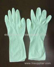 Household Light Weight Diamond Finish Rubber Latex Household Glove With Flock Lined