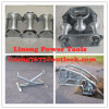 Cable roller galvanizedCable roller with ground plate