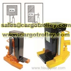 Hydraulic toe jack manual operation