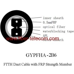 indoor FTTH duct cable GYPFHA-2B6