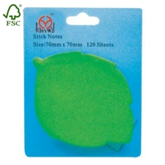 Leap shape sticky note with blister cards