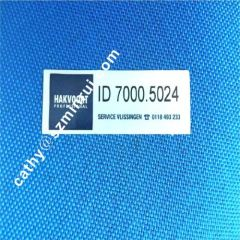Laminated Gloss Silver Sticker With Sequence Number