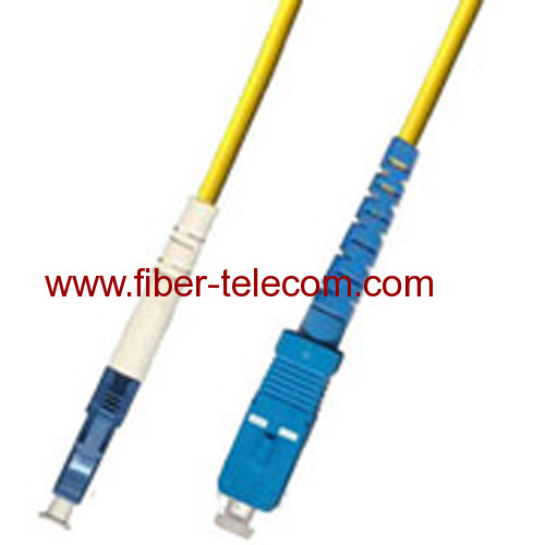 LC-SC Single Mode Simplex Fiber Optic Patch Cord