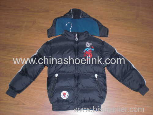China kids winter coat factory