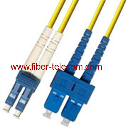LC-SC Single Mode Duplex Fiber Optic Patch Cord
