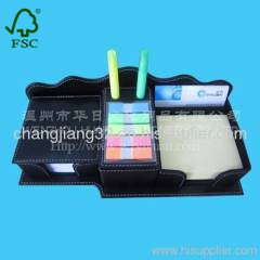 business Sticky notes in Leather Box