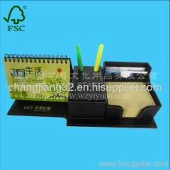 business Stick Pad set in Leather Box