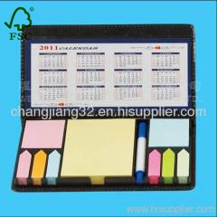 business self-adhesive notes in Leather Box