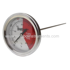 Bimetal thermometer; cooking thermometer