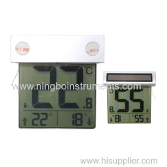 digital solar window thermometer