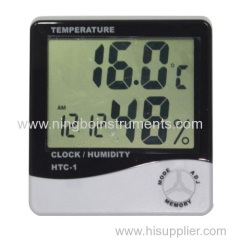 Digital Thermometer Humidity Clock
