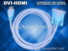 High end DVI To HDMI male to male cable for HDTV satellite boxes HD DVD