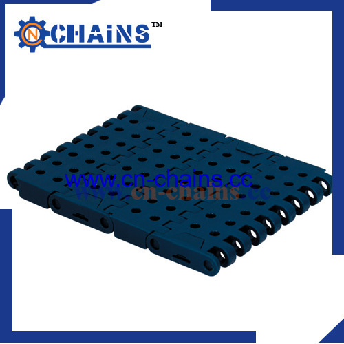 Perforated Slat Top Molded modular conveyor With Positrack for export