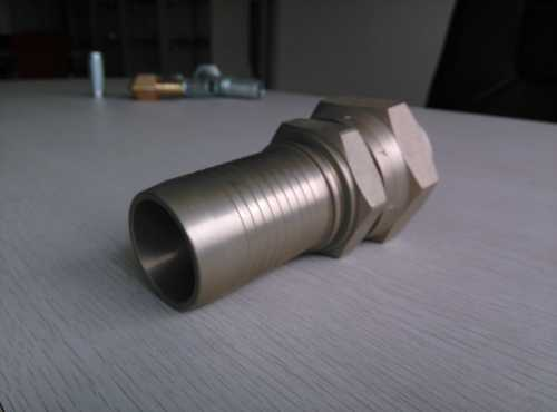 Carbon Steel Hydraulic Fitting with white zinc plated