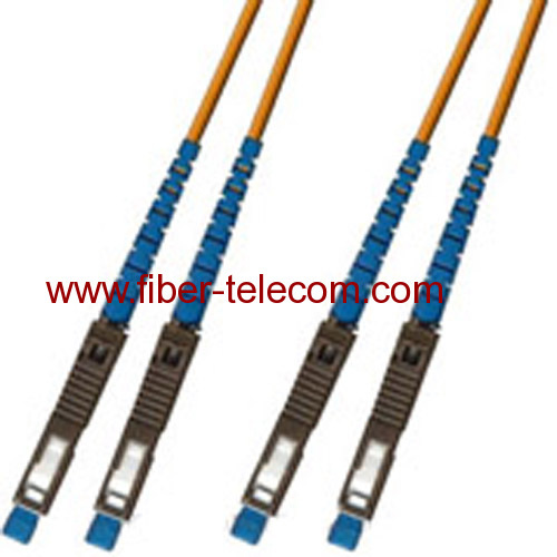 MU-MU Multi Mode Duplex Fiber Optic Patch Cord
