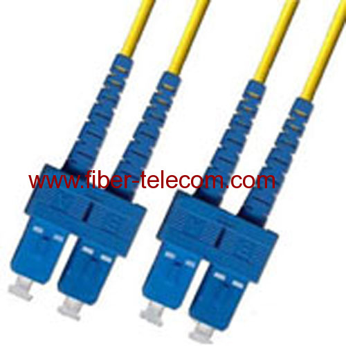 SC-SC Single Mode Duplex Fiber Optic Patch Cord