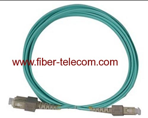 SC to SC OM3 Simplex Fiber Optical Patch Cable 1M