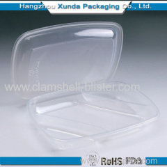 Clear plastic food container with lid