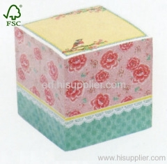 Flower Sticky Memo Cube