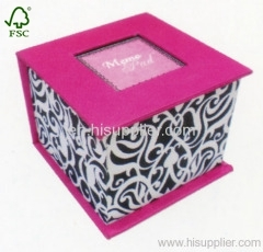 Printing colourful memo box
