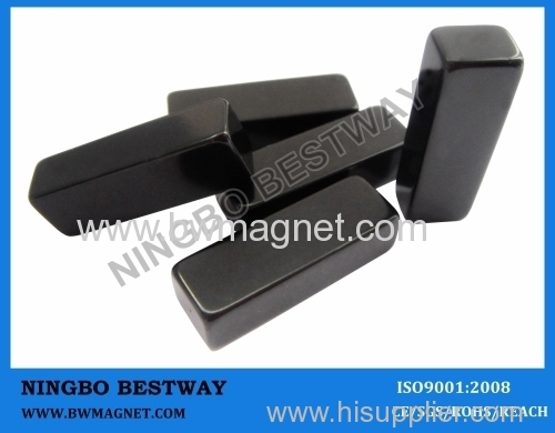 N45 Magnet Blocks with Black Epoxy Plated