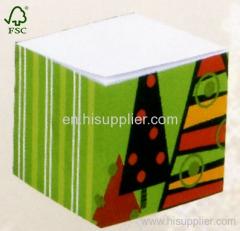 Christmas tree memo cube