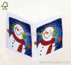 Snowman Christmas memo paper box