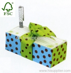 Promotion memo block with pen holder