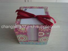 Dual memo paper box holder