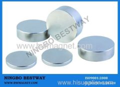 Permanent Neodymium Magnet Disc N35 Ni coating