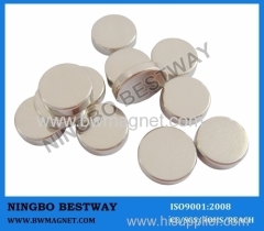 N45 Disc NdFeB Magnet D15x3mm Ni Coating
