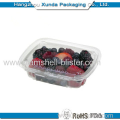 Clear plastic strawberry packaging container