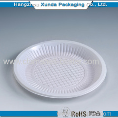 Colorful plastic round wedding plate