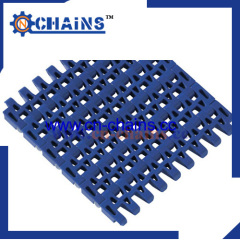 25.4mm pitch Flush Grid straight running plastic conveyor belt