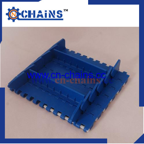 Modular Plastic conveyor belt M2520 with cleat and sidewall