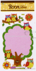 personalized owl Chalkbord Stickers