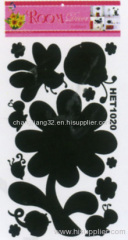 Flower shape chalkboard Sticker