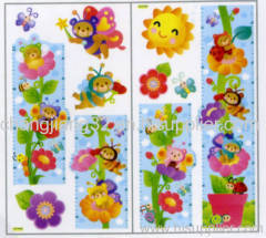 Sun flowers Growth Chart Wall Sticker