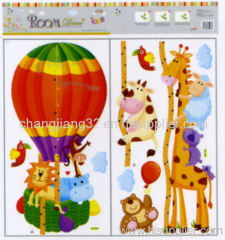 Animals acrobatic Growth Chart wall Sticker