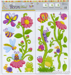 Flower animal Growth Chart Wall decal