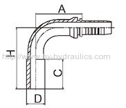 90 deg metric standpipe hydraulic hose fitting