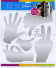 finger hand Mirror wall decal