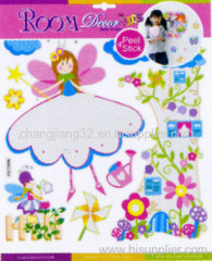 girls Growth Chart Wall Sticker
