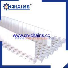 Radius flush grid conveyor belt