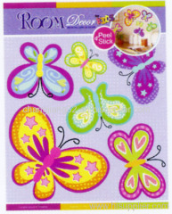 Butterfly Chipboard 3D wall Sticker