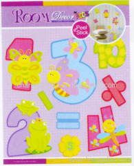 Number Chipboard 3D Sticker